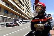 May 20-24, 2015: GP2 Monaco - Stoffel Vandoorne, ART Grand Prix passes a Monaco track marshal