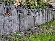 Fragment muru getta na tyłach budynku szkoły przy ul. Limanowskiego 62