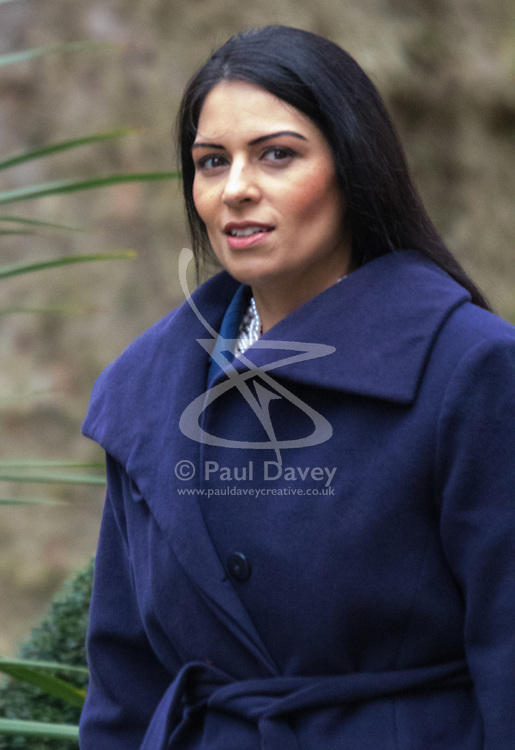 Downing Street, London, November 17th 2015. Employment Minister Priti Patel arrives at Downing Street for the weekly cabinet meeting.