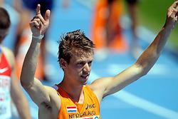 28-07-2010 ATLETIEK: EUROPEAN ATHLETICS CHAMPIONSHIPS: BARCELONA <br /> Arnoud Okken plaatst zich voor de halve finale op de 800 meter <br /> ©2010-WWW.FOTOHOOGENDOORN.NL