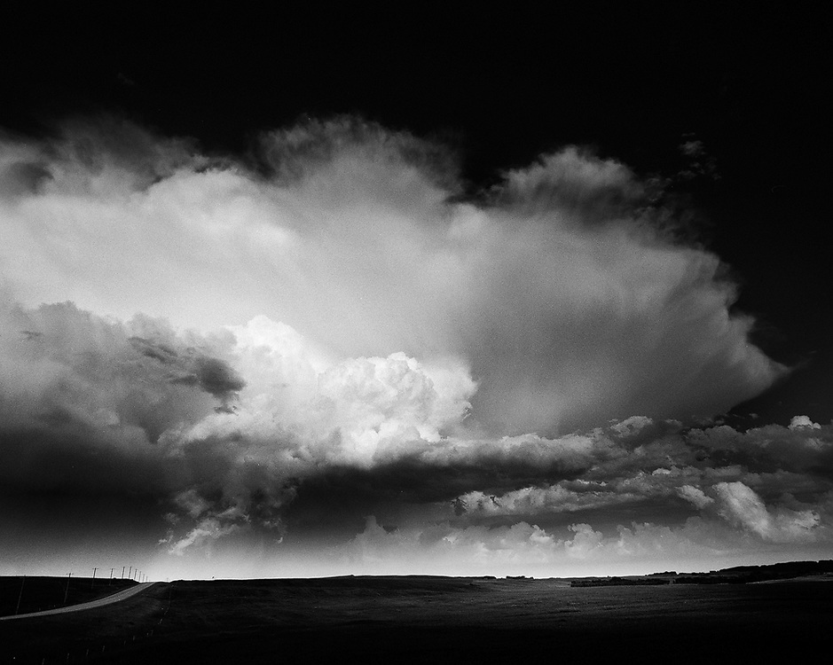 Beautiful anvil on a summer storm just outside of Airdrie, AB