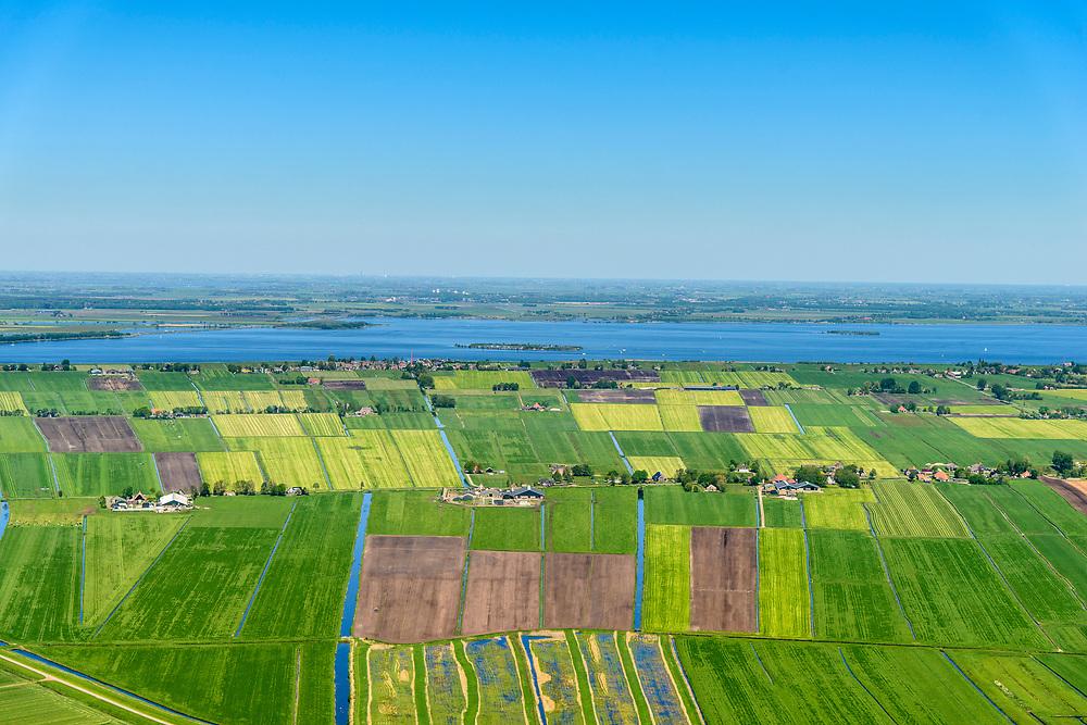 Nederland, Friesland, gemeente De Friese Meren, 07-05-2018; De Zuidwesthoek, Tjeukemeer.<br /> <br /> luchtfoto (toeslag op standard tarieven);<br /> aerial photo (additional fee required);<br /> copyright foto/photo Siebe Swart