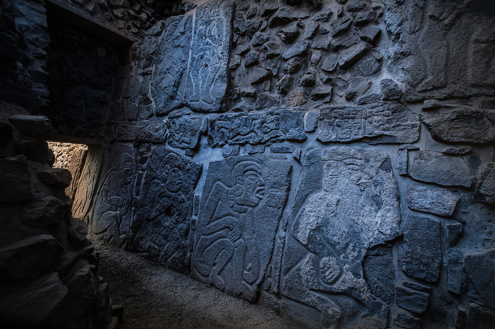 Monte Albán is a large pre-Columbian archaeological site in the Santa Cruz Xoxocotlán. These  petroglyphs are located in the ruins of that archeological site.