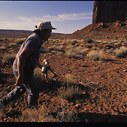 """As the son of a minister, Eugene Chee Jr. has found that Christianity often clashes with tribal customs -- for example, through """"mutton hunger.""""  Oljato, Utah."""