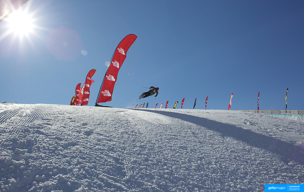 Cyrill Hunziker, Switzerland,  in action in the Halfpipe Finals during The North Face Freeski Open at Snow Park, Wanaka, New Zealand, 3rd September 2011. Photo Tim Clayton...