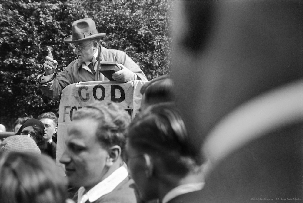 Religious Meeting in Hyde Park, London, 1933