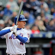 NEW YORK, NEW YORK - MAY 04:  Wilmer Flores #4 of the New York Mets batting during the Atlanta Braves Vs New York Mets MLB regular season game at Citi Field on May 04, 2016 in New York City. (Photo by Tim Clayton/Corbis via Getty Images)