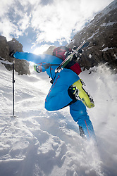 Skier at Sella mountains