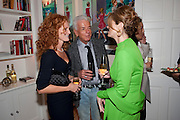 EMMA WILSON; NICKY HASLAM; PETRONELLA WYATT, Mrs. Richard Briggs at home.  Sloane Gardens. London. 20 October 2011. <br /> <br />  , -DO NOT ARCHIVE-© Copyright Photograph by Dafydd Jones. 248 Clapham Rd. London SW9 0PZ. Tel 0207 820 0771. www.dafjones.com.