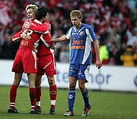 Fotball, 7. november 2004, NM-finale herrer , cupfinale , Brann - Lyn 4-1,  Paul Scharner og Ragnvald Soma , Brann og Yngvar Håkonsen, Lyn