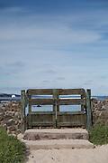 Entrance to beach, Punta Estada, Santa Cruz Island, Galapagos, Ecuador, South America