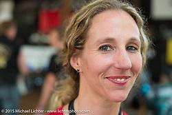 Heather Walker at the Broken Spoke Saloon during Daytona Beach Bike Week 2015. FL, USA. Tuesday March 10, 2015.  Photography ©2015 Michael Lichter.