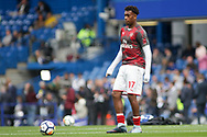 Alexander Iwobi of Arsenal during pre-match warm up. Premier league match, Chelsea v Arsenal at Stamford Bridge in London on Sunday 17th September 2017.<br /> pic by Kieran Clarke, Andrew Orchard sports photography.