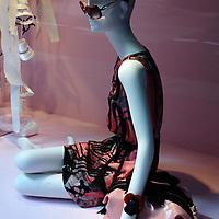 Bergdorf Goodman spring, pink black dress
