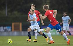 Carl Lange (FC Helsingør) under kampen i 1. Division mellem Hvidovre IF og FC Helsingør den 15. september 2020 på Pro Ventilation Arena, Hvidovre Stadion (Foto: Claus Birch).