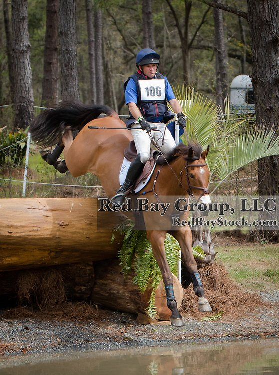 Phillip Dutton (USA) and Fernhill Fugitive at the Red Hills International Horse Trials in Tallahassee, Florida.