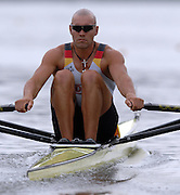 Amsterdam, HOLLAND, GER M1X, Marcel HACKER, in his heat of the men's  sculls,  at the 2007 FISA World Cup Rd 2 at the Bosbaan Regatta Rowing Course. [Date] [Mandatory Credit: Peter Spurrier/Intersport-images]..... , Rowing Course: Bosbaan Rowing Course, Amsterdam, NETHERLANDS