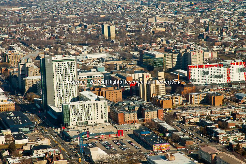 Aerial view of Temple University, Philadelphia. PA