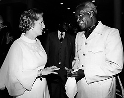 Aug. 4, 1979 - Nairobi, Kenya, Africa - The first female British Prime Minister (from 1979-1990) MARGARET THATCHER, with Zambian President KENNETH KAUNDA. (Credit Image: © Keystone Press Agency/Keystone USA via ZUMAPRESS.com)