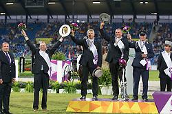 Team Germany, Brauchle Michael, Sandmann Christoph, Von Stein Georg<br /> Driving competition Prizegiving<br /> European Championships - Aachen 2015<br /> © Hippo Foto - Dirk Caremans<br /> 22/08/15