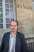 REOUVERTURE DE LA COLLECTION LAMBERT(2011).eric mezil-directeur de la collection lambert.reouverture de la collection lambert  suite a la destruction de 2 oeuvre de l'artiste andres serrano dimanche 17 avril.