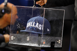 The Dallas Cowboys New ERA hat arrives before the first round of the NFL Draft on April 26th 2012 at Radio City Music Hall in New York, New York. (AP Photo/Brian Garfinkel)