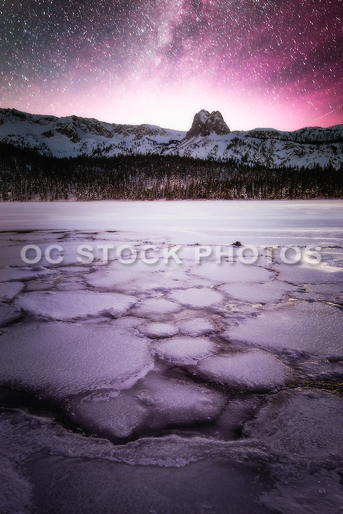Twin Lakes During Winter