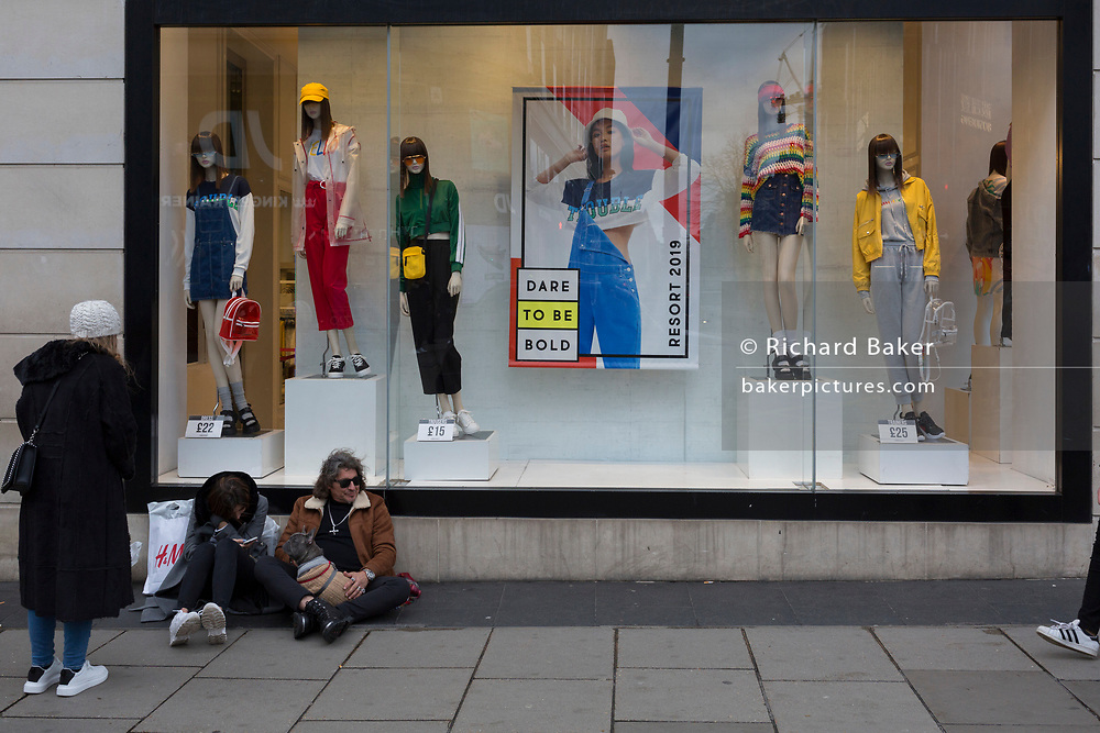 Shoppers on Oxford Street, on 4th March 2019, in London England.