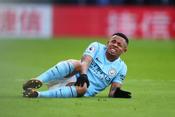 31 December 2017 -  Premier League - Crystal Palace v Manchester City - Gabriel Jesus of Manchester City reacts after a tackle from Andros Townsend of Crystal Palace - Photo: Marc Atkins/Offside
