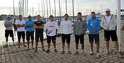 The nine tour card holders meet in Sweden. Photo: Chris Davies/WMRT