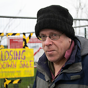 """Nick Danby.<br /> """"We have just completed our second anniversary of Cuadrilla being here in Preston New Road. As far as we can tell they haven't done any fracking since end of November. We are waiting for an announcement of what is going on, a lot of equipment has come off the site. We think they are going to embark upon extended flow testing but we dont know for sure. That in itself really means the company who say they want to build a good relationship with the community is doing nothing of the sort, they are being very tight lipped, not serving the community well and they are only interested, as far as I can see, in keeping their investors and share holders sweet. We think the tide is turning against fracking. At the weekend two national news papers had front page headlines saying that fracking is a dead duck. We fought for two years and we will carry on as long as we need to to put this industry to bed. Fracking should not be the future, the future should be clean and green.""""<br /> It is Green Monday and first week of the second anniversary of Cuadrilla's fracking exploration in Preston New Road. For two years activists have been keeping an eye on the fracking company Cuadrilla from the roadside of the fracking site in Preston New Road. The company has not actively fracked since November and is currently seemingly busy emptiyng the site for heavy equipment. Prostesters and climate protectors are still by the gates trying to work out Cuadrilla's intensions."""