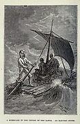 A Hurricane in the Centre of the Earth from the book ' A journey to the centre of the earth ' by Jules Verne (1828-1905) Published in New York by Scribner, Armstrong & co 1874