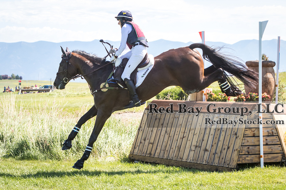 Jennie Brannigan (USA) and Stella Artois at the The Event at Rebecca Farm in Kalispell, Montana.