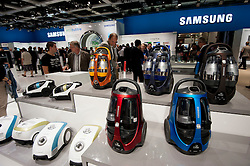 Samsung vacuum cleaner display stand at IFA consumer electronics trade fair in Berlin Germany 2011