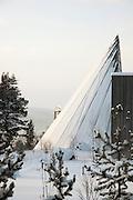 The Samediggi, the Sami Parliament Building in Karasjok, Finnmark region, northern Norway