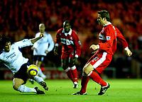 Fotball<br /> Premier League England 2004/2005<br /> Foto: BPI/Digitalsport<br /> NORWAY ONLY<br /> <br /> Middlesbrough v Manchester City<br /> Barcalys Premiership. 06/12/2004.<br /> <br /> Mark Viduka chips in the opener for Middlesbrough