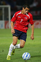 CHILE (4) vs. COLOMBIA (0) in their World Cup 2010 qualifying soccer match in Santiago, Chile. September 10, 2008<br /> Here CHILE player ALEXIS SANCHEZ<br /> © PikoPress
