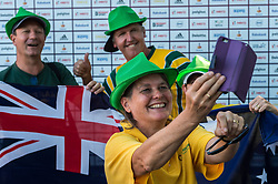 supporters of Australia during the Champions Trophy finale between the Australia and India on the fields of BH&BC Breda on Juli 1, 2018 in Breda, the Netherlands.