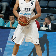 Efes Pilsen's Cenk AKYOL during their Turkish Basketball league match Efes Pilsen between Olin Edirne at the Sinan Erdem Arena in Istanbul Turkey on Friday 06 May 2011. Photo by TURKPIX
