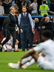 July 11, 2018 - Moscow, Russia - 180711 head coach Gareth Southgate of England looks dejected after loosing the FIFA World Cup semi final match between Croatia and England on July 11, 2018 in Moscow..Photo: Petter Arvidson / BILDBYRÃ…N / kod PA / 92085 (Credit Image: © Petter Arvidson/Bildbyran via ZUMA Press)