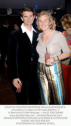 COUNT & COUNTESS MANFREDIE DELLA GHERARDESCA, at a party in London on 9th April 2003.PIU 11