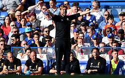 Liverpool manager Jurgen Klopp gestures on the touchline during the Premier League match at Stamford Bridge, London.