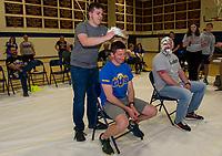 """Pie A Teacher"" fundraiser for Pathway at LRGH with Gilford High School.  ©2019 Karen Bobotas Photographer"