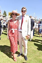 Lady Eliza Manners and Thor Winkler at the Qatar Goodwood Festival - Glorious Goodwood, Goodwood Racecourse, West Sussex 02 August 2018.