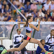 BRUSSELS, BELGIUM:  September 3:  Nicola McDermott of Australia in action in the high jump competition for woman at the Wanda Diamond League 2021 Memorial Van Damme Athletics competition at King Baudouin Stadium on September 3, 2021 in  Brussels, Belgium. (Photo by Tim Clayton/Corbis via Getty Images)