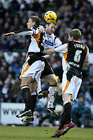 Photo: Pete Lorence.<br />Derby County v Hull City. Coca Cola Championship. 10/02/2007.<br />Steve Howard connects with the ball.