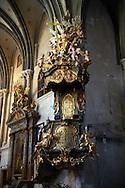 Baroque interior of the Goat's Church (Kecske templom )- Sopron, Hungary