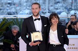 May 25, 2019 - Cannes, France - 72nd Cannes Film Festival 2019, Photocall Awards - Golden Palmares.Pictured: Vasilis Kekatos, Agustina San Martín (Credit Image: © Alberto Terenghi/IPA via ZUMA Press)