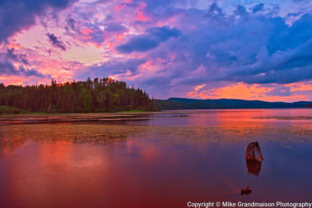 Sunrise on Baie a la Peche<br />La Mauricie National Park<br />Quebec<br />Canada