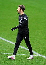 Sam Smith of Cheltenham Town warms up prior to kick-off - Mandatory by-line: Nizaam Jones/JMP - 20/02/2021 - FOOTBALL - Jonny-Rocks Stadium - Cheltenham, England - Cheltenham Town v Bradford City - Sky Bet League Two